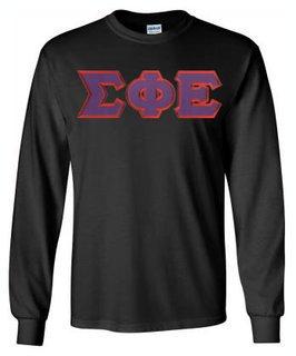 Sigma Phi Epsilon Lettered Long Sleeve Shirt