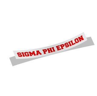 Sigma Phi Epsilon Long Window Sticker