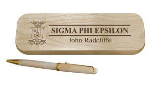 Sigma Phi Epsilon Maple Wood Pen Set