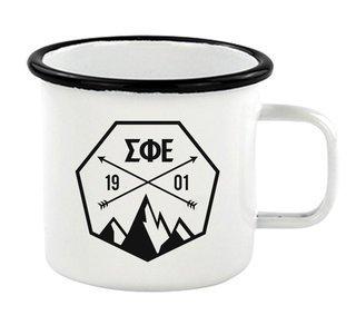 Sigma Phi Epsilon Metal Camping Mug