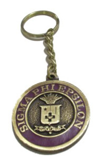 Sigma Phi Epsilon Metal Fraternity Key Chain