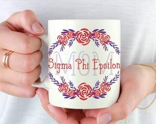 Sigma Phi Epsilon Mom Floral Mug