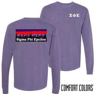 Sigma Phi Epsilon Outdoor Long Sleeve T-shirt - Comfort Colors