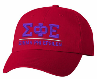 Sigma Phi Epsilon Old School Greek Letter Hat
