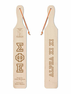 Sigma Phi Epsilon Old School Wood Greek Paddle