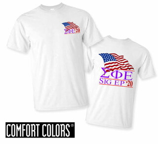 Sigma Phi Epsilon Patriot  Limited Edition Tee - Comfort Colors