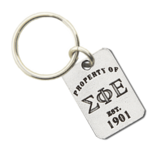 Sigma Phi Epsilon Property of Tag Keychain