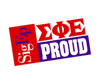 Sigma Phi Epsilon Proud Bumper Sticker - CLOSEOUT