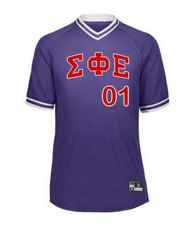 Sigma Phi Epsilon Retro V-Neck Baseball Jersey