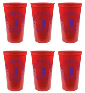 Sigma Phi Epsilon Set of 6 Big Plastic Stadium Cups
