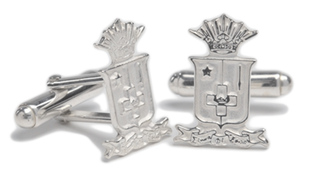 Sigma Phi Epsilon Sterling Silver Crest - Shield Cufflinks