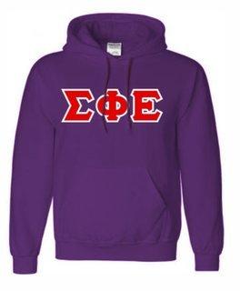 Sigma Phi Epsilon Sewn Lettered Sweatshirts