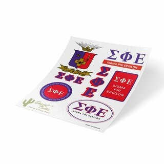 Sigma Phi Epsilon Traditional Sticker Sheet