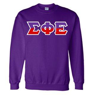Sigma Phi Epsilon Two Tone Greek Lettered Crewneck Sweatshirt