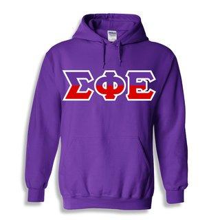 Sigma Phi Epsilon Two Tone Greek Lettered Hooded Sweatshirt