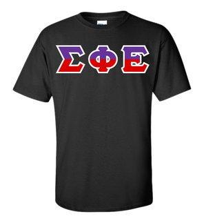 Sigma Phi Epsilon Two Tone Greek Lettered T-Shirt