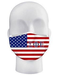 Sigma Phi Epsilon USA Flag Face Masks