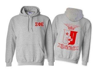 Sigma Phi Epsilon World Famous Crest - Shield Printed Hooded Sweatshirt- $35!