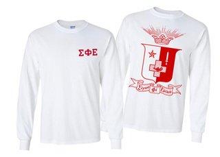 Sigma Phi Epsilon World Famous Crest - Shield Long Sleeve T-Shirt- $19.95!