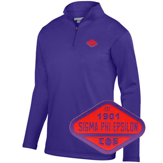 DISCOUNT-Sigma Phi Epsilon Woven Emblem Wicking Fleece Pullover