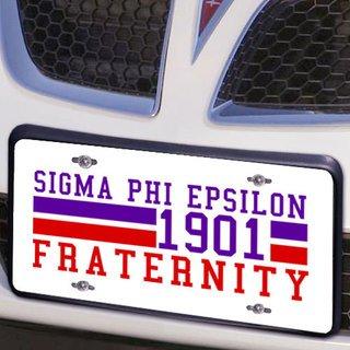 Sigma Phi Epsilon Year License Plate Cover