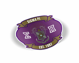 Sigma Pi Banner Crest - Shield Decal