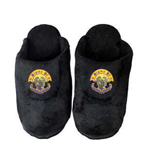 Sigma Pi Black Solid Slipper