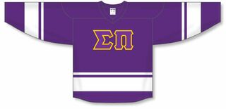 DISCOUNT-Sigma Pi Breakaway Lettered Hockey Jersey