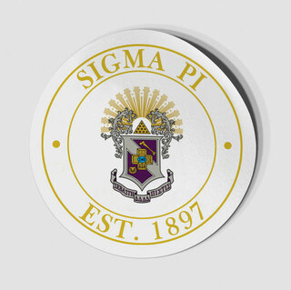 Sigma Pi Circle Crest - Shield Decal