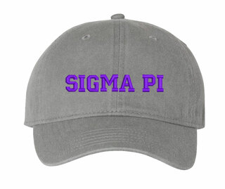 Sigma Pi Pigment Dyed Baseball Cap