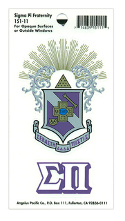 Sigma Pi Crest - Shield Decal