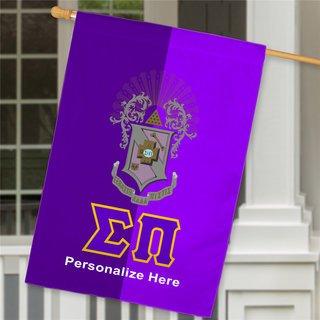 Sigma Pi Crest House Flag