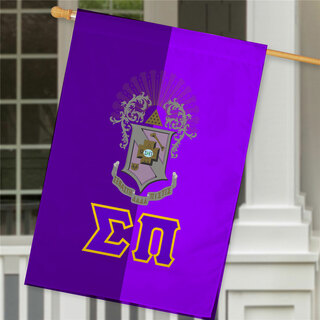 Sigma Pi Crest House Flag