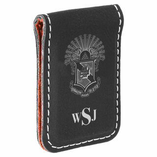Sigma Pi Crest Leatherette Money Clip