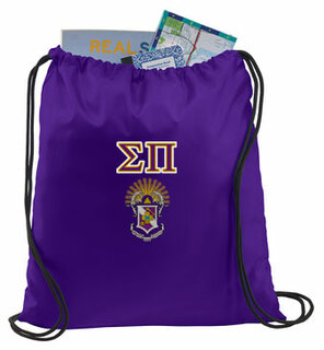 Sigma Pi Crest - Shield Cinch Sack