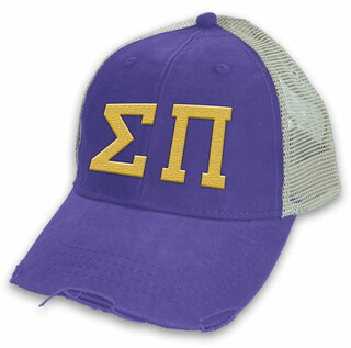 Sigma Pi Distressed Trucker Hat