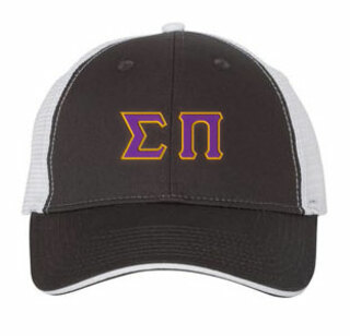 Sigma Pi Double Greek Trucker Cap