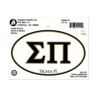 Sigma Pi Euro Decal Oval Sticker