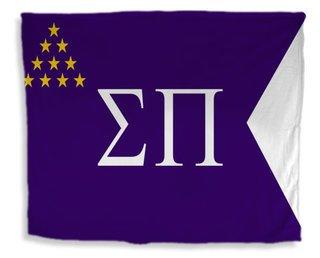 Sigma Pi Flag Giant Velveteen Blanket