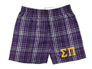 Sigma Pi Flannel Boxer Shorts