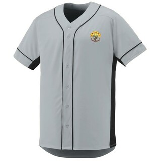 DISCOUNT-Sigma Pi Fraternity Crest - Shield Slugger Baseball Jersey