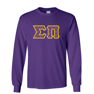 Sigma Pi Fraternity Crest - Shield Twill Letter Longsleeve Tee
