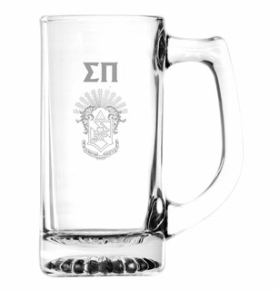 Sigma Pi Glass Engraved Mug
