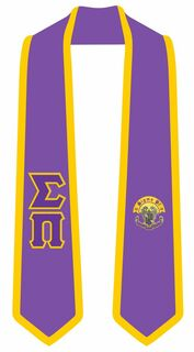 Sigma Pi Greek 2 Tone Lettered Graduation Sash Stole