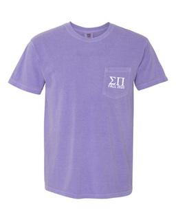 Sigma Pi Greek Letter Comfort Colors Pocket Tee