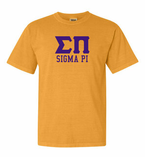Sigma Pi Greek Custom Comfort Colors Heavyweight T-Shirt