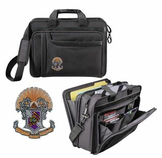 DISCOUNT-Sigma Pi Crest - Shield Briefcase Attache