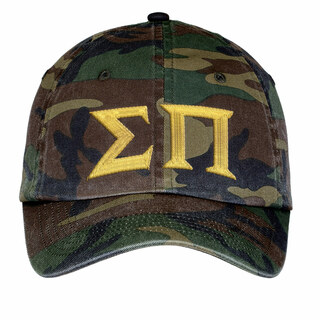 Sigma Pi Lettered Camouflage Hat