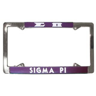 Sigma Pi License Plate Frame