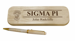 Sigma Pi Maple Wood Pen Set